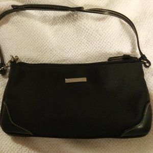 Strada Black polyester with vinyl trim purse